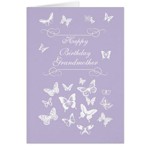 Grandmother Butterflies Birthday Irish Blessing