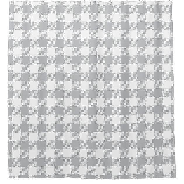 grey plaid shower curtain buffalo plaid