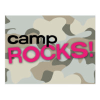 Gray Camo CAMP ROCKS! Postcard