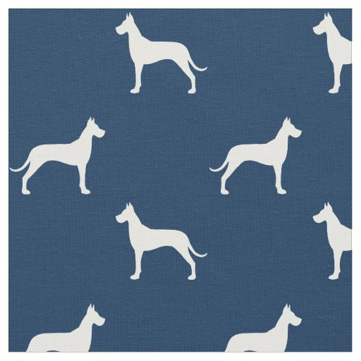 Great Dane Silhouettes Pattern Fabric Zazzle