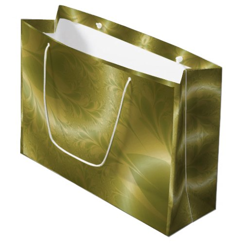 Green and Gold Paisley Large Gift Bag