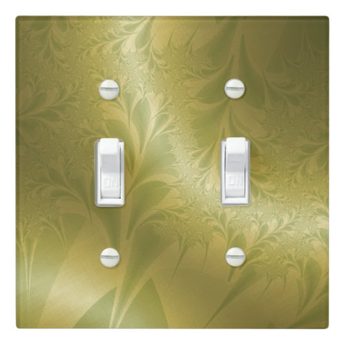 Green and Gold Paisley Switch Plate Cover