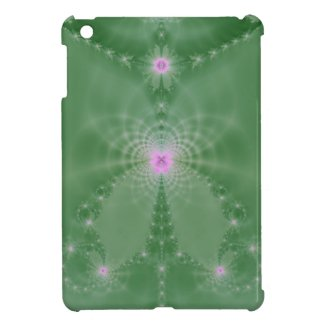 Green And Pink Floral Fantasy iPad Mini Covers