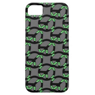 Green & Black Peace Sign Case iPhone 5 Covers