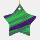 Green Blue Color Swish Ceramic Ornament