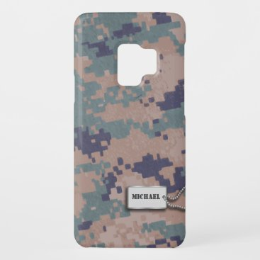 Green, Brown and Black  Digital Camouflage Case-Mate Samsung Galaxy S9 Case