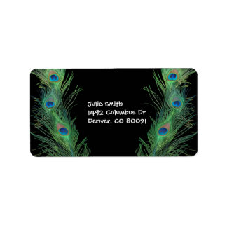 Peacock Address Labels Amp Peacock MailingShipping Label