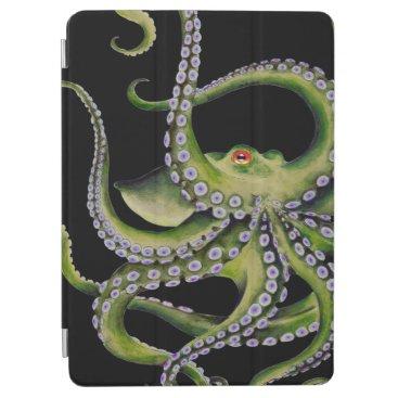 Green Octopus Black iPad Air Cover