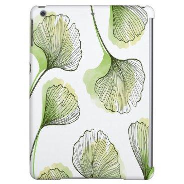 Green petals case for iPad air