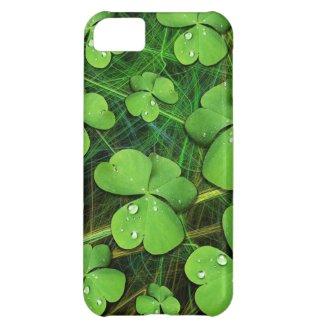 Green Shamrock St Patrick's iPhone 5 Case-Mate