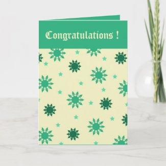 Green stars card