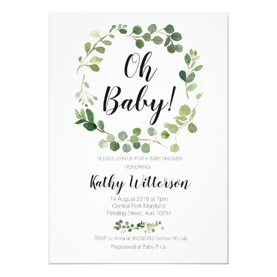 Oh Baby Baby Shower Invitations