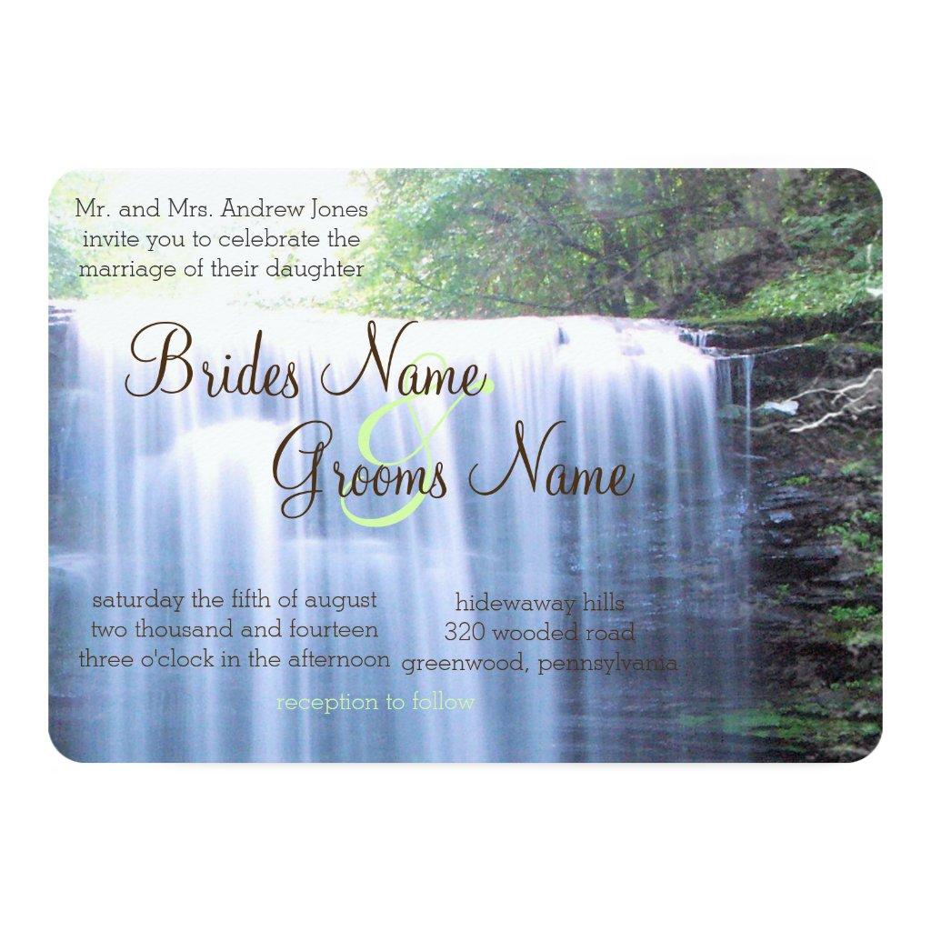 Greeny Nature Wedding Invitation