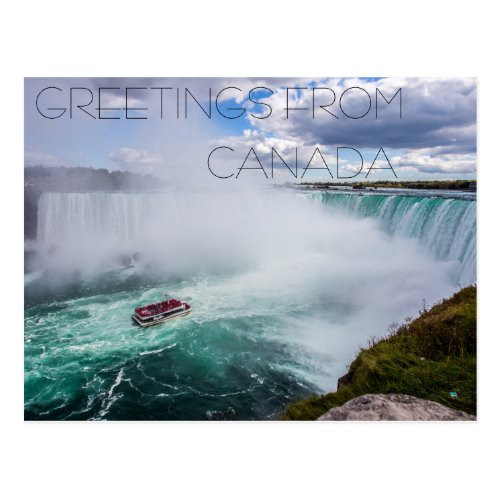 greetings from canada country america postcard