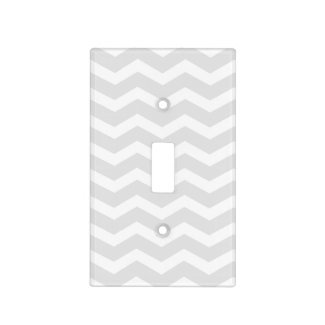 Grey and White Chevron Light Switch Plates