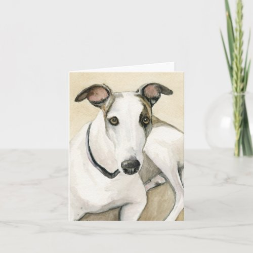 Greyhound Dog Art Notecard