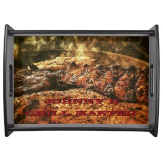 Grill Master Personalized Barbecue Serving Tray
