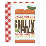 Grillin Chillin BBQ Invitation, Burger Barbecue Invitation