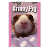 Grinny pig card
