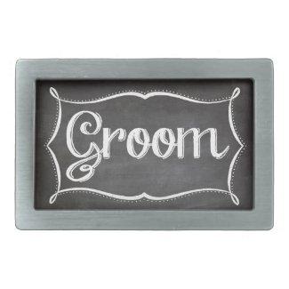 Groom Chalkboard Belt Buckle