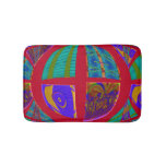 Groovy Colorful Red Abstract Bath Mats