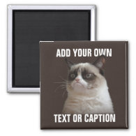 Grumpy Cat - Add your own text Refrigerator Magnet