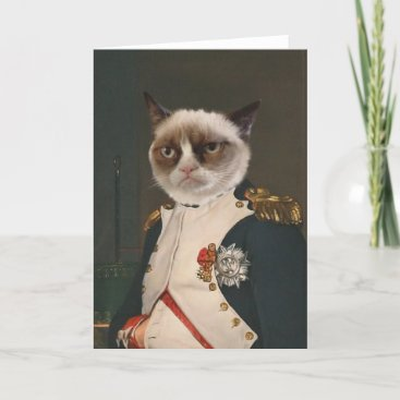 Grumpy Cat Classic Painting Card
