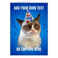 Grumpy Cat Customizeable Happy Birthday Greeting Cards
