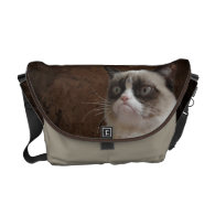 Grumpy Cat Glare Messenger Bag