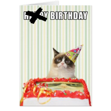 Grumpy Cat - Happy Birthday Card
