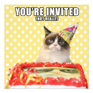 Grumpy Cat Invitations - You're Invited