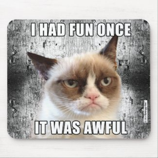 Grumpy Cat™ Mousepad - I had fun once.