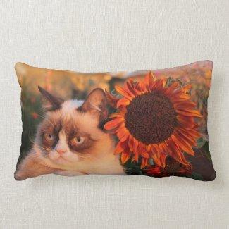 Grumpy Cat Sunflower Pillow