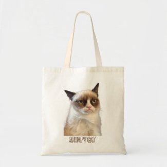 Grumpy Cat Tote - Color Canvas Bags