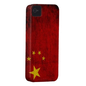 Grunge Chinese Flag iPhone 4 Cover
