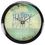 grunge,retro photo,trendy,happy place,typography,s aquavista clock