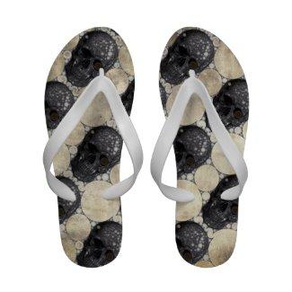 Grunge Skull head (Patterns) sandals