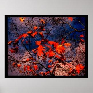 Grunge tree - Poster print