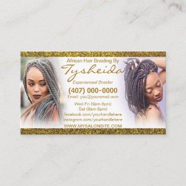 Hair Braiding Loctician Business Card Template