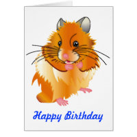 Hairy Hamster Birthday Card