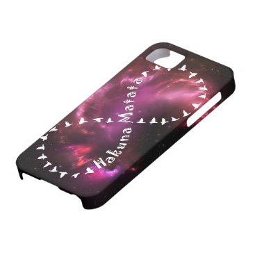 Hakuna Matata Forever on Pink Nebula iPhone SE/5/5s Case