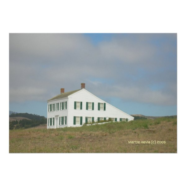 Half Moon Bay House on a Hill print