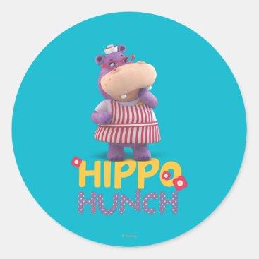 Hallie - Hippo Hunch Classic Round Sticker