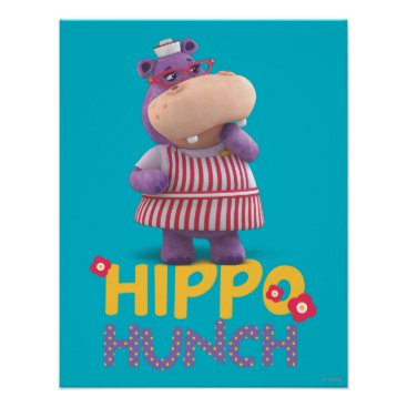Hallie - Hippo Hunch Poster