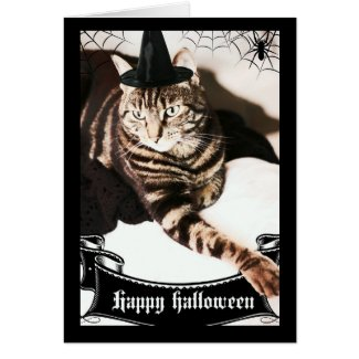 Halloween Cat Goddess Greeting Card