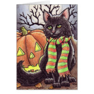 Halloween Cat notecard