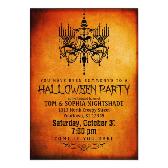 Halloween Chandelier Party Invitation Zazzle Com