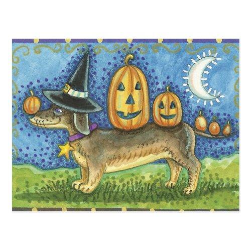 Halloween Dog Postcard