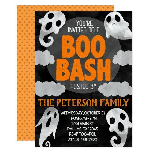 Halloween Ghost Boo Bash Party Invitation Invite