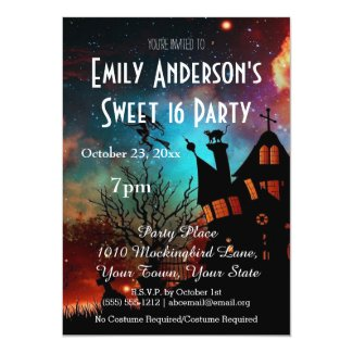 Halloween Haunted House Costume Sweet 16 Birthday